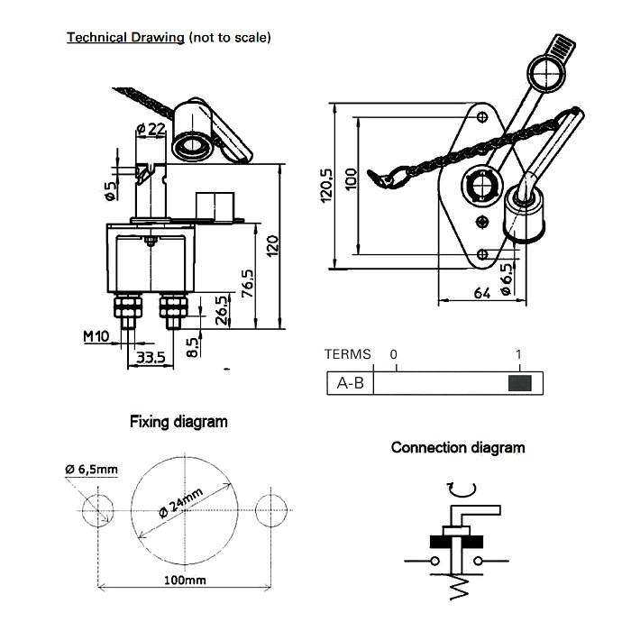 Rotary isolator switch wiring diagram the best wiring diagram 2017 0 605 50 durite 250a rated at 24v battery isolator with key asfbconference2016 Image collections